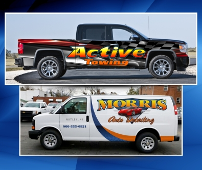 AJR Signs and Graphics, New Jersey truck lettering, Vehicle wraps, trailer lettering, van graphics, decals, logo design