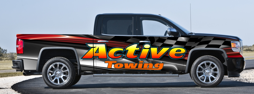 Active Towing Truck Wrap