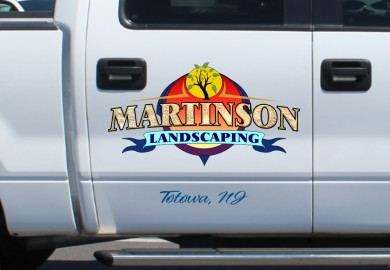 Landscaping logo design and truck lettering