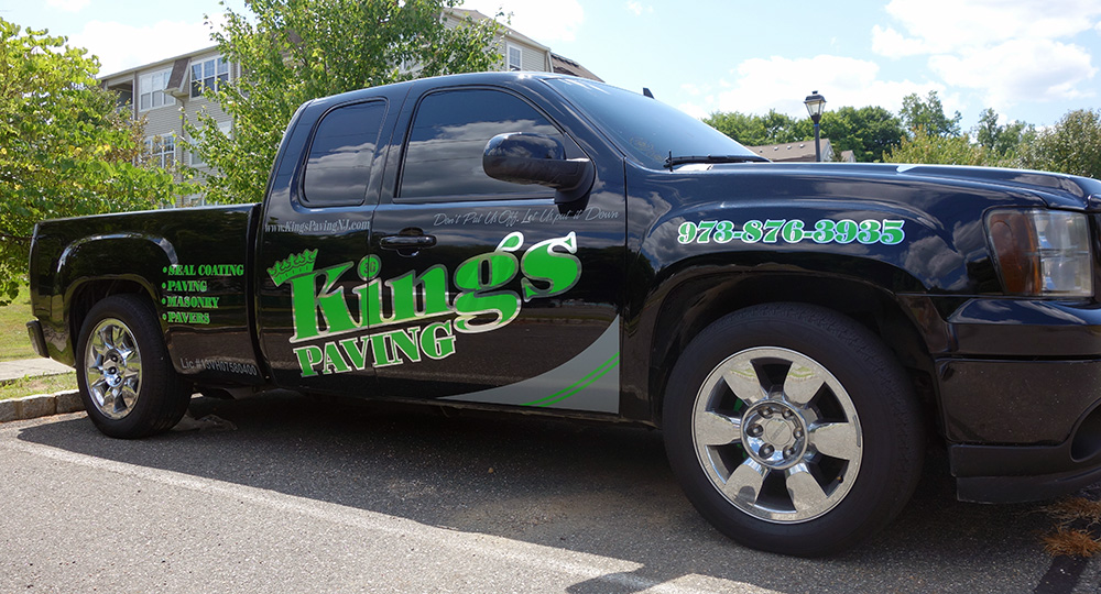 Kings paving truck lettering