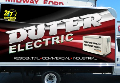 Box truck lettering and wrap