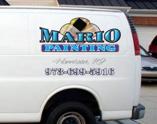 Van decals for painting contractor