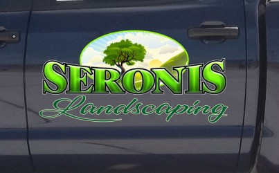 Landscaping company logo design and truck lettering