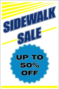 Sidewalk sale sign