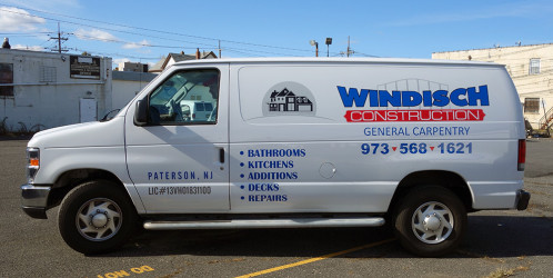Van lettering for NJ construction company