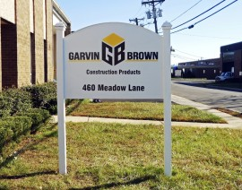 Outdoor sign for Garwin Brown