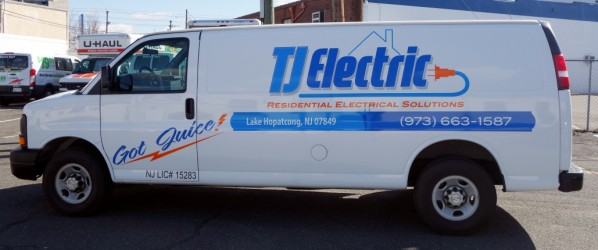 Van Lettering for electrical contractor