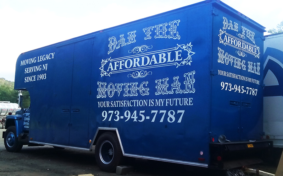 Moving company truck lettering