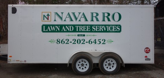 Trailer Lettering for Navarro Tree and lawn Care