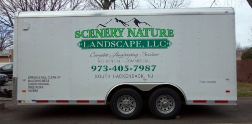 Scenery nature landscaping trailer and truck lettering