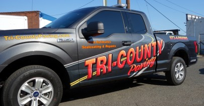 Truck graphics for Tri-County paving