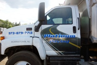 Truck lettering for Platinum paving