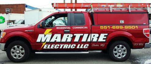 Martire Electric Truck lettering