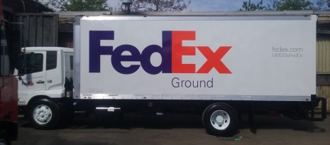 FedEx decals installation