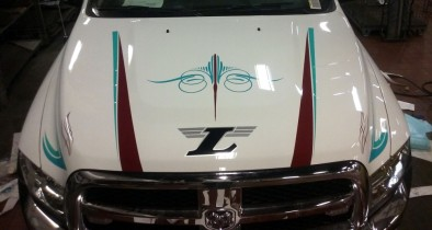 Custom hood graphics