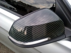 Carbon fiber mirror wrap