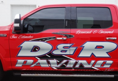 Ford F150 Lettering for D & R paving