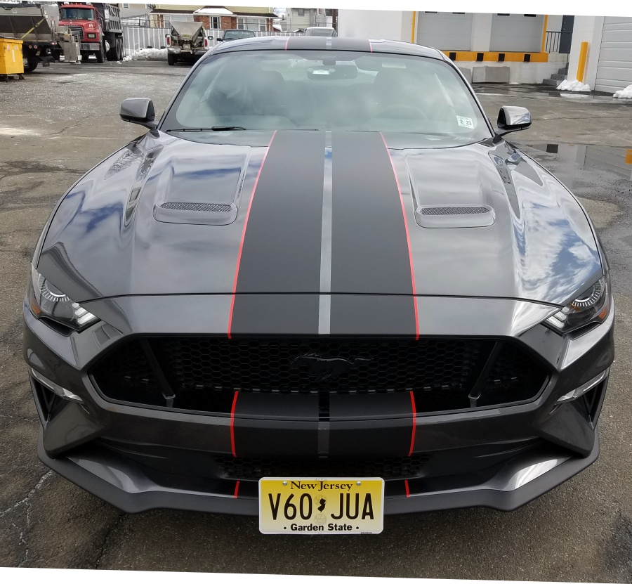 2018 Mustang GT racing stripes