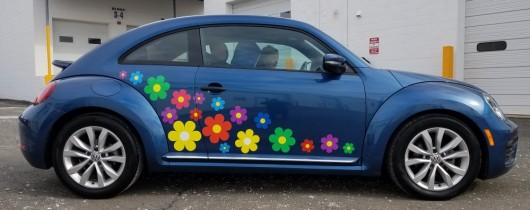 VW Beetle flowers
