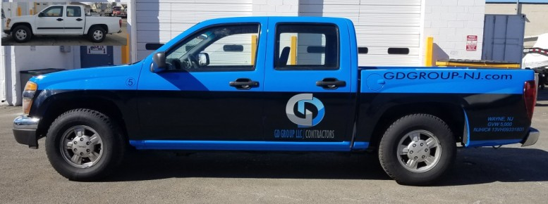 GD Group GMC truck wrap and color change