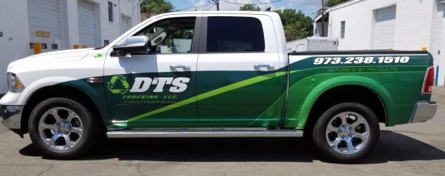 DTS Trucking partial wrap