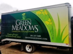 Green Meadows Landscaping box truck wrap