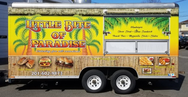 little bite of paradise trailer wrap