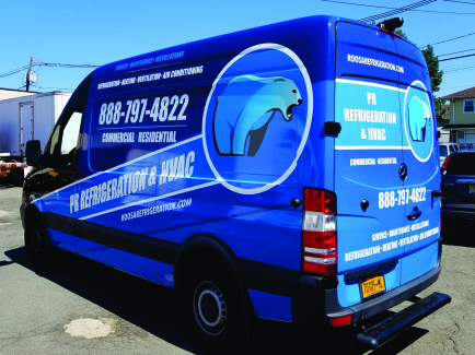 Sprinter van wrap, design, print, installation