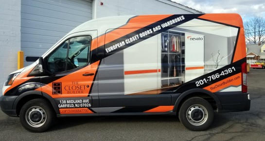 Closet builder van wrap and design