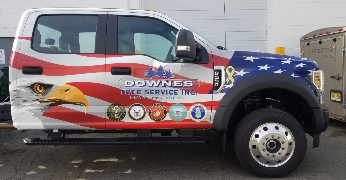 Downes ford f550 wrap