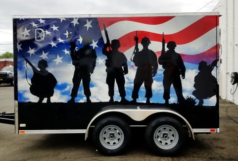 Custom trailer wrap and design