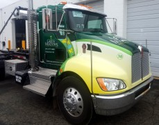 Green Meadows landscaping Kenworth wrap
