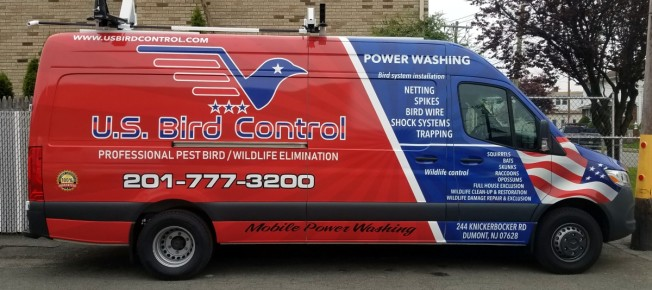 US Bird Control Sprinter wrap and design