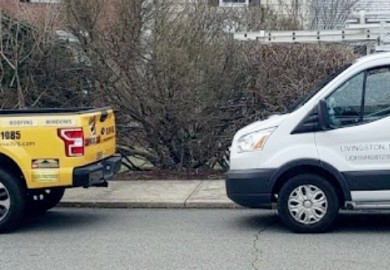 Carpenters touch vehicles