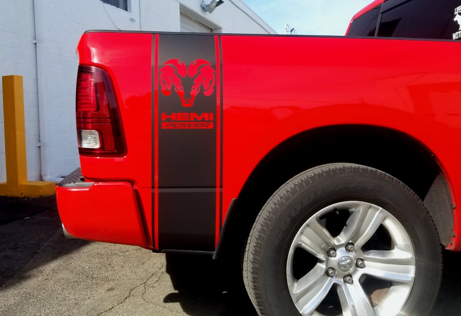 Dodge Hemi custom decals