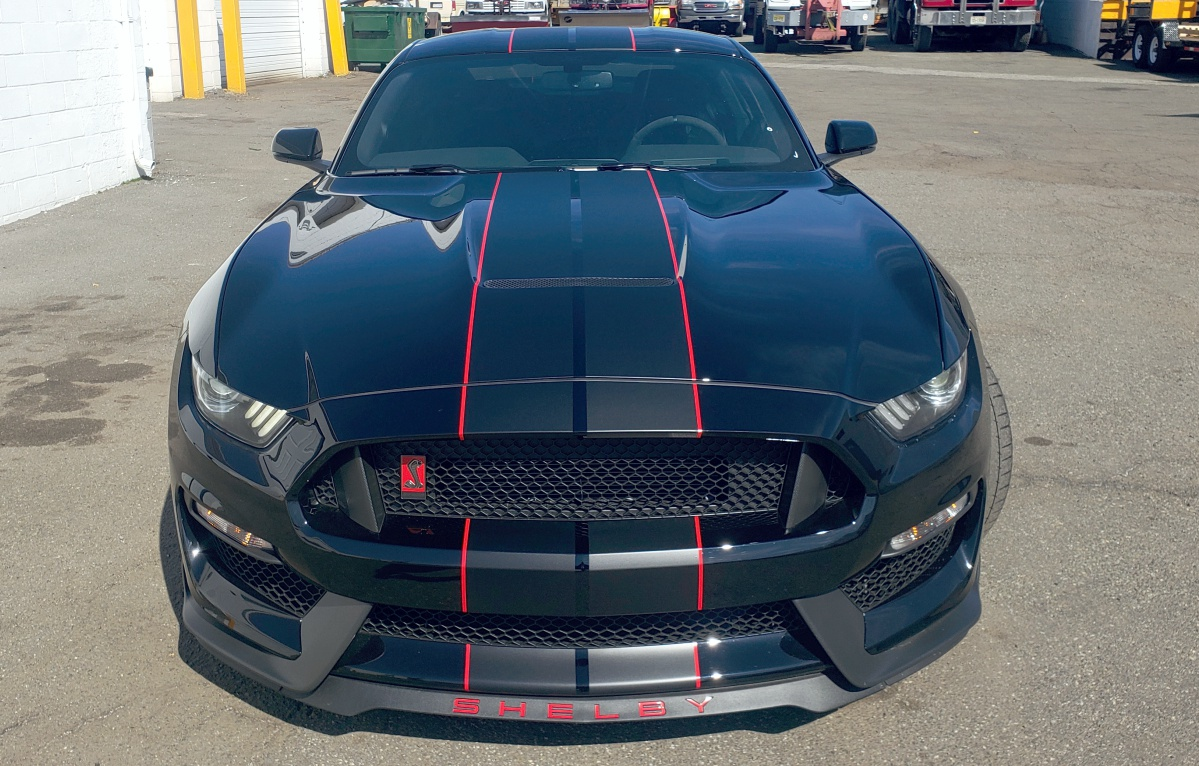 Ford Mustang Shelby Cobra racing stripes