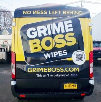 Grime boss Ford transit wrap back