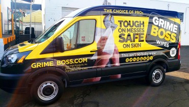 Grime Boss Ford Transit Full Van Wrap