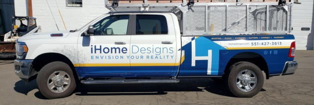 iHome Dodge pick up truck partial wrap