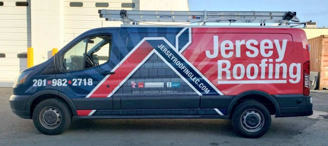 Jersey Roofing Ford Transit Wrap