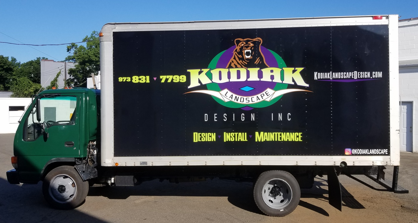 kodiak Landscaping box truck wrap