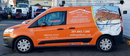 On The Spot van wrap
