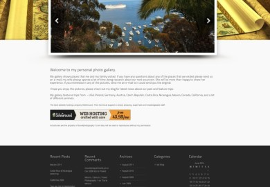 Personal photography website