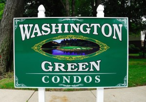Sign for condominium