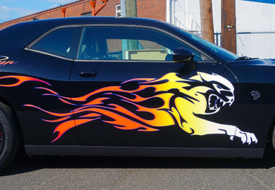 Dodge Challenger Hellcat Graphics