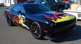 Dodge HellCat one of the kind tribal flames