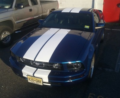 blue mustang gt front