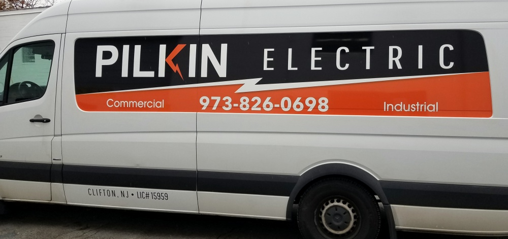 Electrical  company van decals
