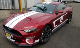 Ford Mustang GT custom hood and doors graphics