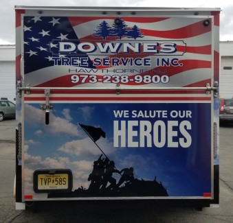 Downes tree service trailer wrap